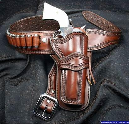Holster Gun Western Holsters Cowboy Leather Belt