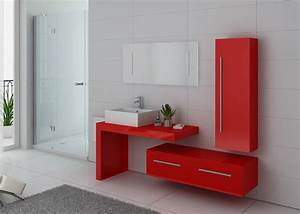 Meuble De Salle : meuble de salle de bain rouge coquelicot meuble de salle de bain rouge dis9250co ~ Nature-et-papiers.com Idées de Décoration