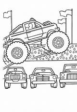 Coloring Monster Truck Pages Cars Lamborghini Jump Few Amazing Colouring Transportation sketch template