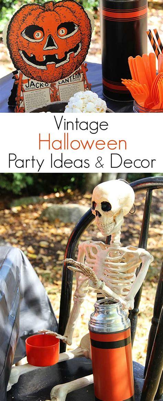vintage halloween party ideas  decor house  hawthornes