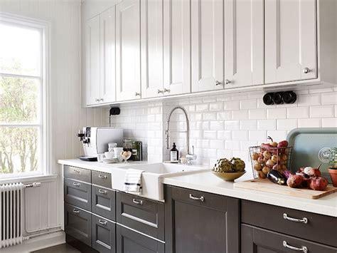 kitchen cabinets white on top on bottom black and white kitchen with white top cabinets and black 9862