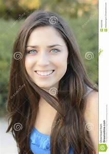 Pretty Teenage Girl Headshot Stock Photo - Image: 45622348