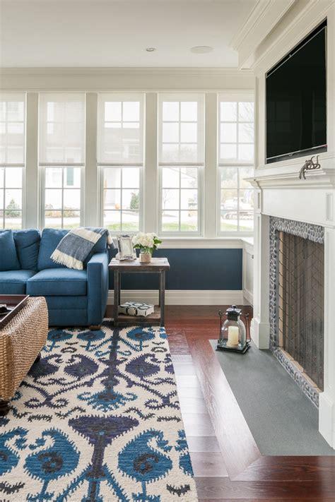 impressive ikat rug  family room beach style