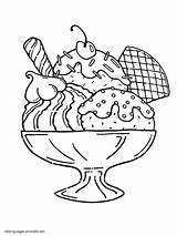 Coloring Ice Cream Sundae Printable Dibujalia Giant Template Adults Alimentos Sheets Icecream Truck Pan Barra Baguette sketch template