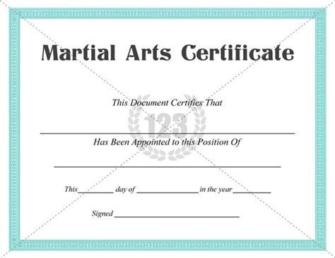 Martial Arts Certificate Template best martial arts certificate templates for free