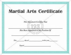 Best martial arts certificate templates for free download now certificate template for Martial arts certificate templates
