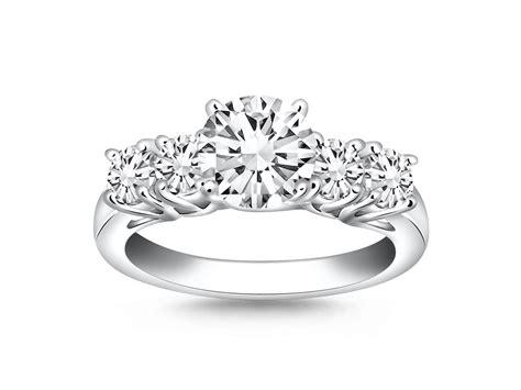 stone diamond trellis engagement ring mounting