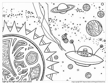 Space Coloring Planets Pages Worksheets Stars Science