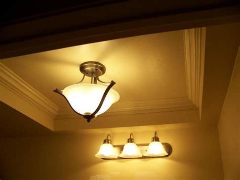 Spectacular lighting update.   Moldings, Fluorescent light