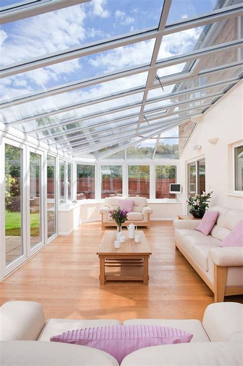 diy sunroom inside view of a upvc conservatory from everest home