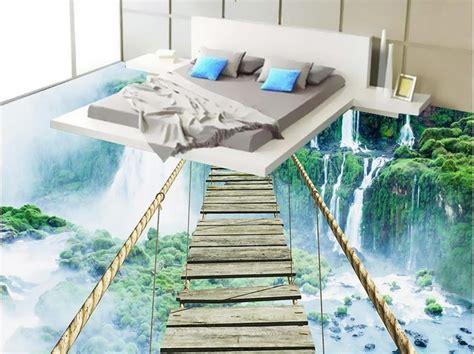 Bathroom Floor Stickers by Custom 3d Wallpaper Bedroom Mural Roll 3d Floor Self