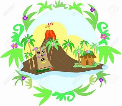 Volcano Clipart Island Tiki Hawaii Hawaiian Vector