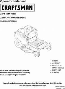 Mtd 17arcact099 User Manual Riding Mower Manuals And
