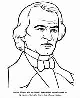 Andrew Johnson Coloring Jackson Pages Presidents Facts President Drawing Printable Fillmore Easy Usa Printables Millard States United Presidential Sketch Vice sketch template