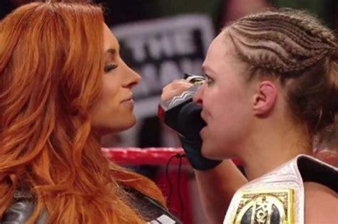 wwe raw becky lynch  face ronda rousey  wrestlemania