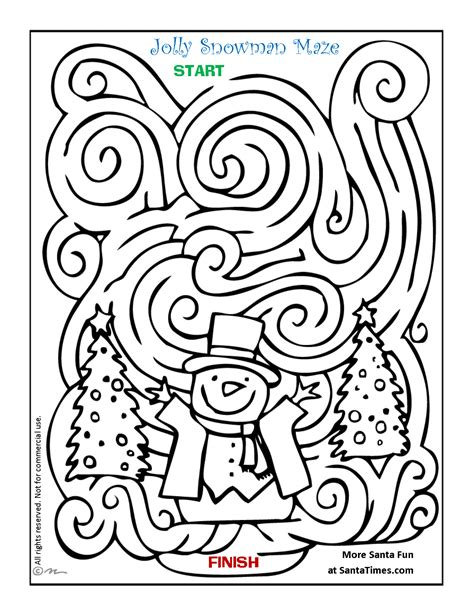 maze christmas coloring pages festival collections