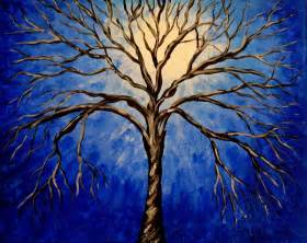 items similar to midnight tree original acrylic abstract painting landscape on etsy
