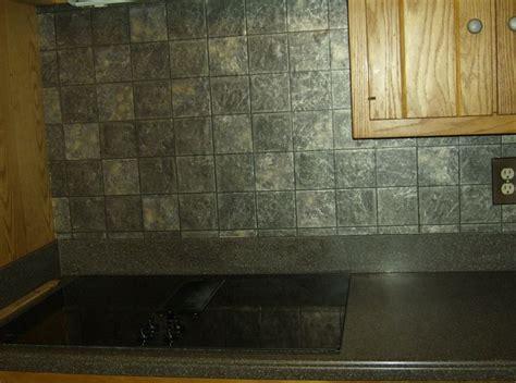 faux tile wallpaper backsplash dimensional