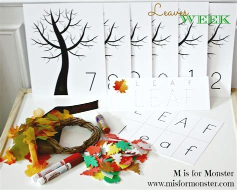 toddler preschool leaves theme october box enjoy 322 | 1886e5fc8fcb17b7c81cb3d6e85383fd