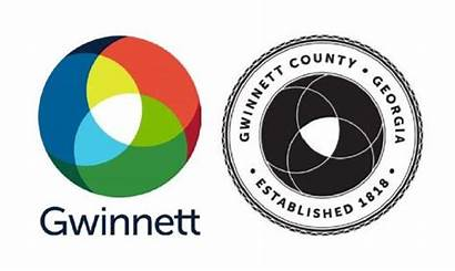 Gwinnett County Slogan Seal Adopted Left Right