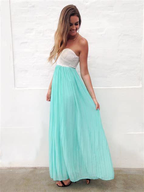 Teal/Turquoise Longer Lengths Dress   Mint and White