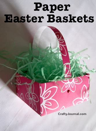paper easter basket crafts
