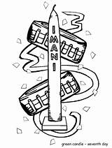 Kwanzaa Coloring Pages Printable Candle Imani Symbols Candles Printables Pdf Coloringpages101 Colouring Happy Advertisement Easily sketch template