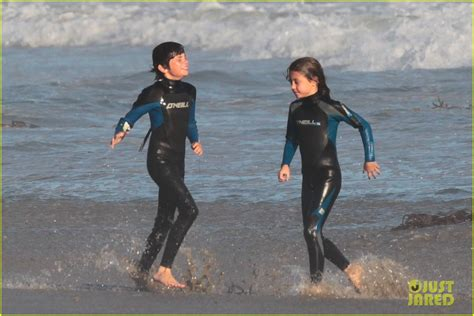 catherine zeta jones beach fun  family photo