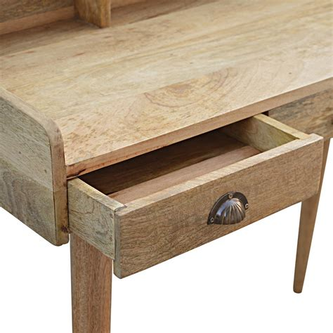 solid wood writing desk with drawers wholesale oak ish 3 drawer writing desk