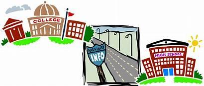 College Clipart Road Universidad Trip Transparent Week