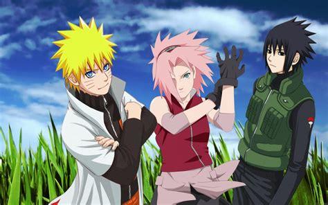 Grass Haruno Sakura Uchiha Sasuke Naruto