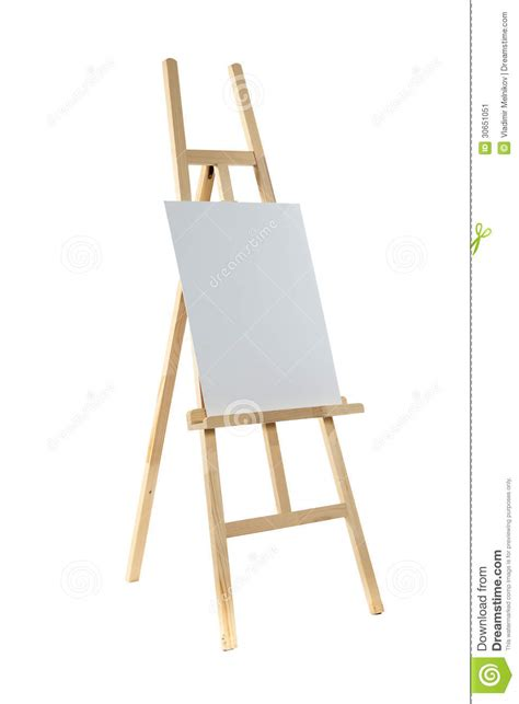 creative paintings on canvas easel with canvas stock image image 30651051