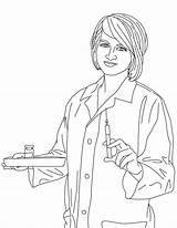 Nurse Coloring Colouring Rn Netart Union Map sketch template