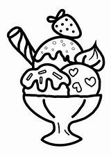 Ice Coloring Cream Summer Printable Learning sketch template