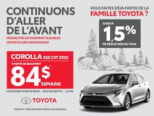 promotions offres rabais toyota  laval vimont toyota