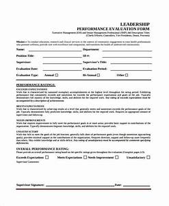 8 leadership evaluation form samples free sample With leadership evaluation form templates