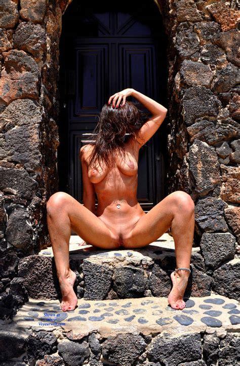 Naked Brunette Spreading Legs Outdoor November