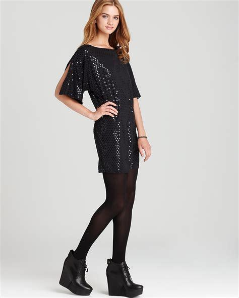 id 268 polkadot split dress c c california dress dazzle dot split sleeve