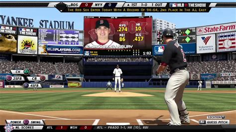 MLB® 11 The Show™ Yankees vs. Red Sox Gameplay video - YouTube
