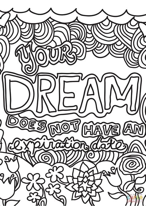 dream     expiration date coloring page