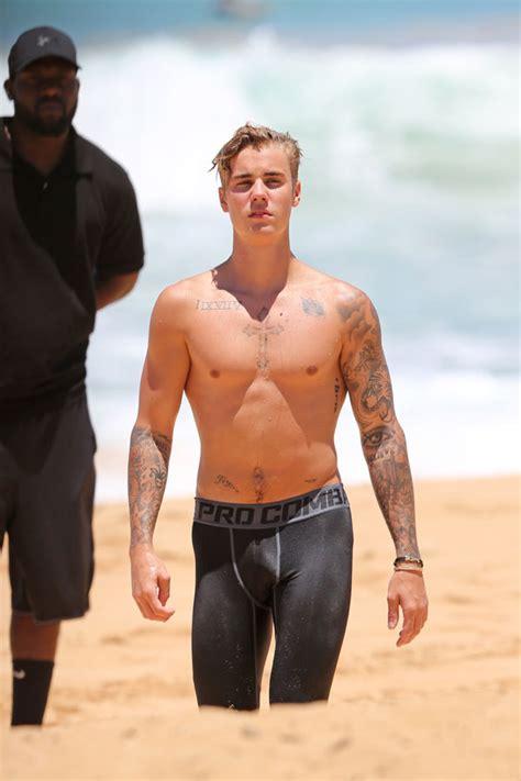 Beach Biebs Justin Bieber Goes Shirtless On The Beach In Hawaii Hot Pics Radar Online