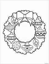 Wreath Ornament Christmas Pages Coloring sketch template