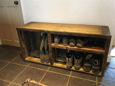 shoe rack shoe storage storage bench wooden pallet shoe