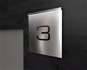 Hausnummer Beleuchtet Led : edelstahl hausnummer led beleuchtet glas pendelleuchte modern ~ Frokenaadalensverden.com Haus und Dekorationen