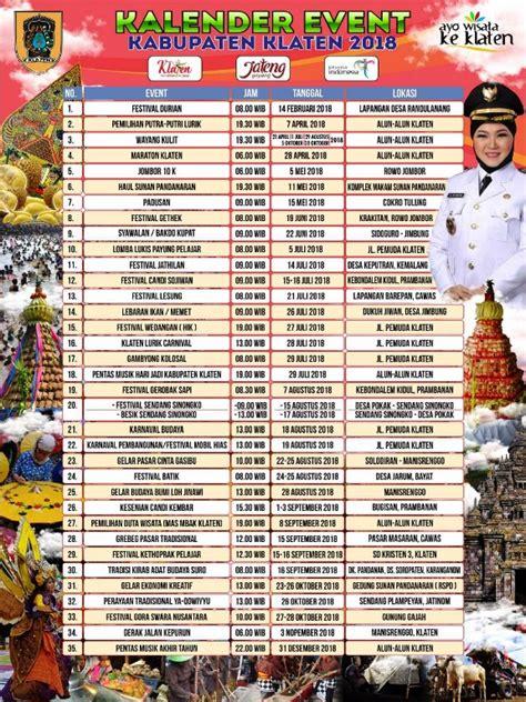 agenda event klaten  durian apem hingga karnaval