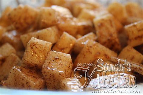 baked cinnamon jicama apples  great substitute