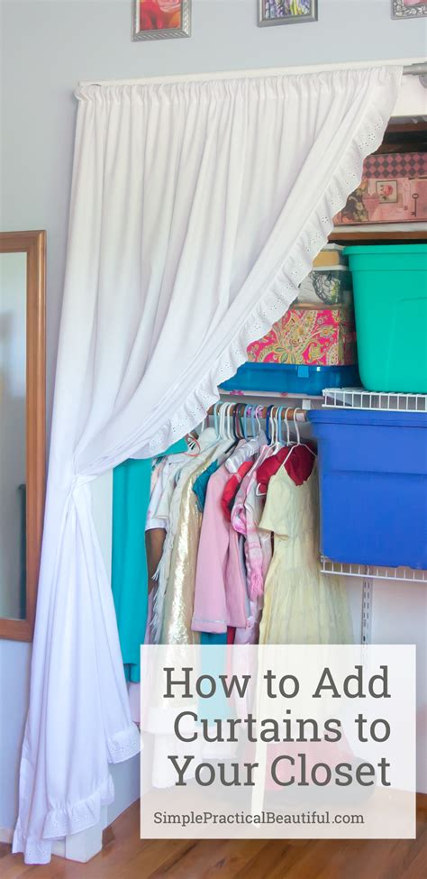 closet curtains made from sheets simple practical beautiful
