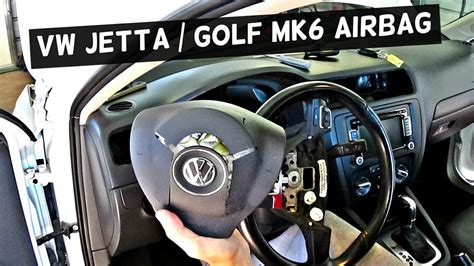 vw jetta mk6 driver airbag removal replacement vw golf mk6