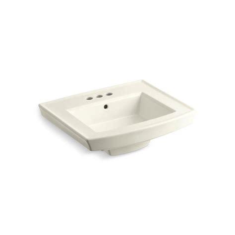 kohler archer pedestal sink home depot kohler archer 4 in vitreous china pedestal sink basin in