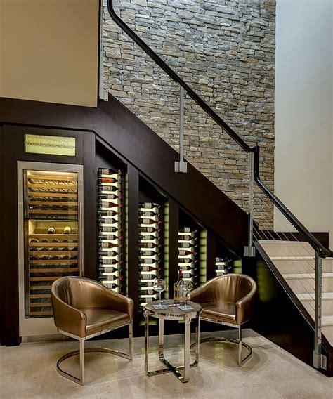20 eye catching stairs wine storage ideas